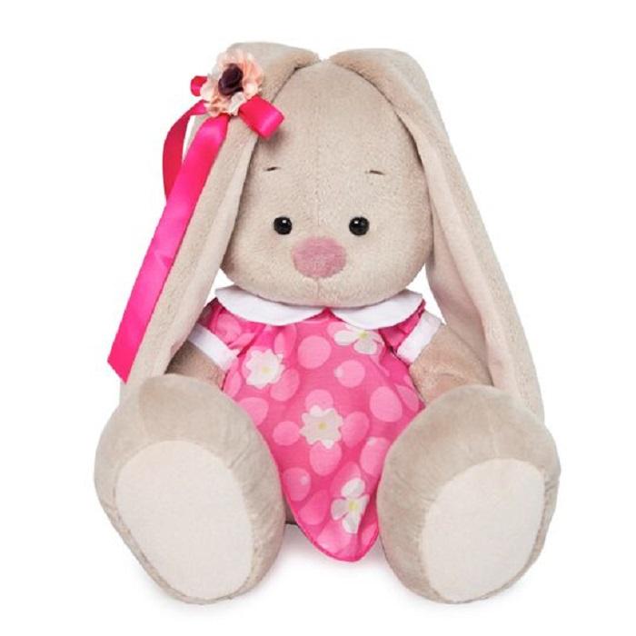 Мягкая игрушка Basik & Ko Budi Basa Зайка Ми в Розовом Платье с Белым Воротничком, SidM-268, бежевый, 23 см зайка ми мягкая игрушка зайка ми балерина 18 см 1157444