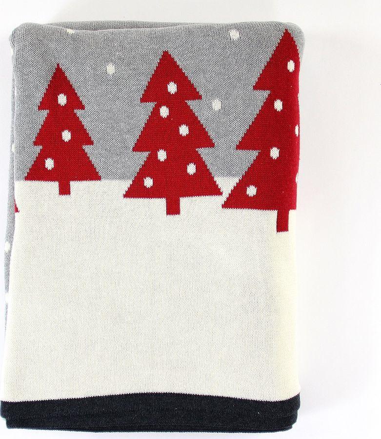 Плед EnjoyMe Christmas Story One, с орнаментом, en_ny0051, 130 х 180 см плед enjoyme silver snow en ny0055 130 х 180 см