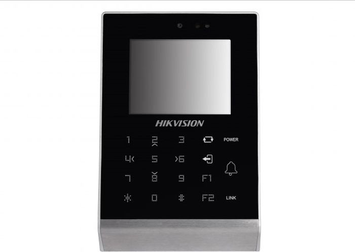 Терминал доступа Hikvision DS-K1T105E-C, черный терминал доступа hikvision ds k1t801m стальной