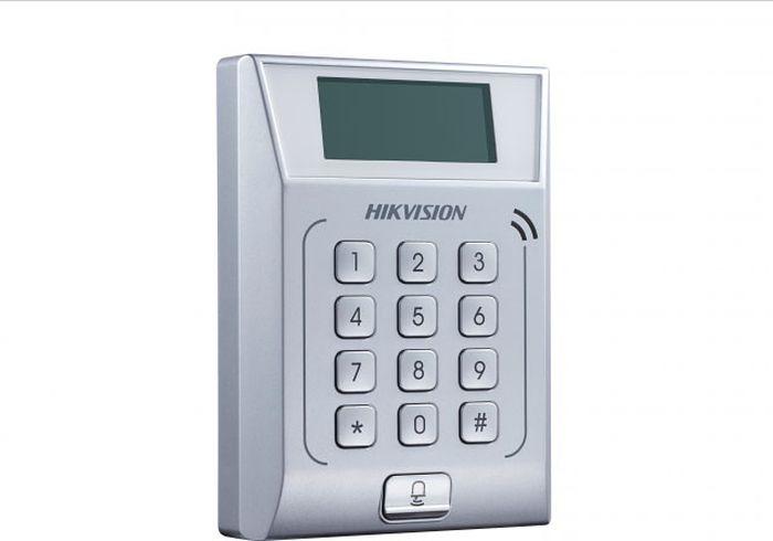 Терминал доступа Hikvision DS-K1T802E, стальной терминал доступа hikvision ds k1t801m стальной