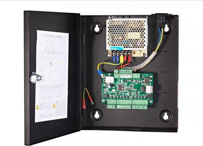 Контроллер сетевой Hikvision DS-K2801, черный терминал доступа hikvision ds k1t801m стальной