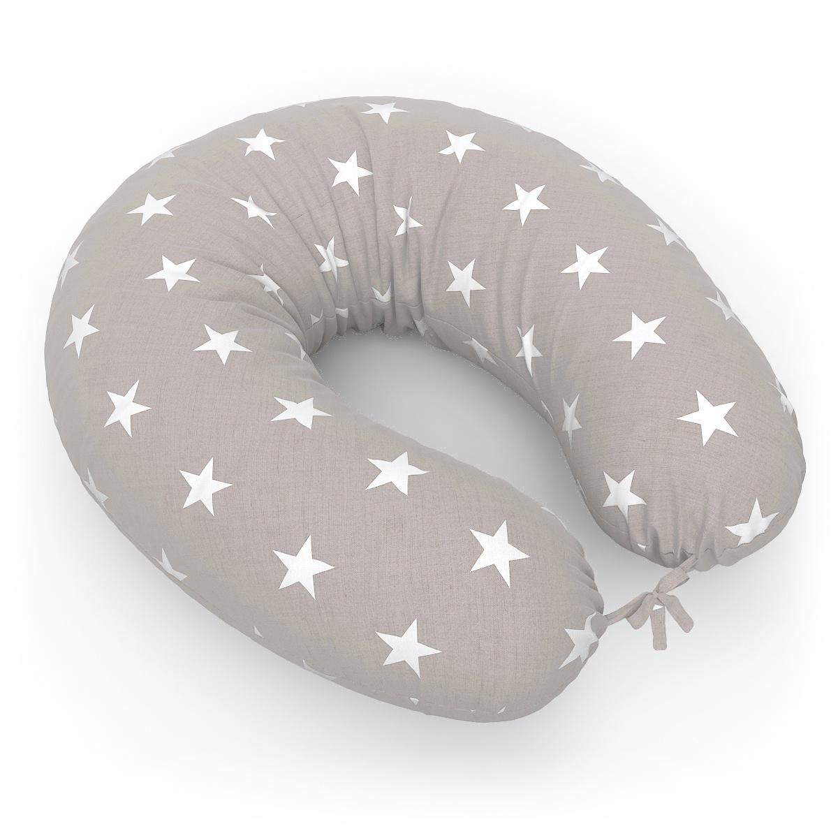 Подушка для кормящих и беременных Петербургский Уют Подушка Бумеранг + наволочка Stars Brown