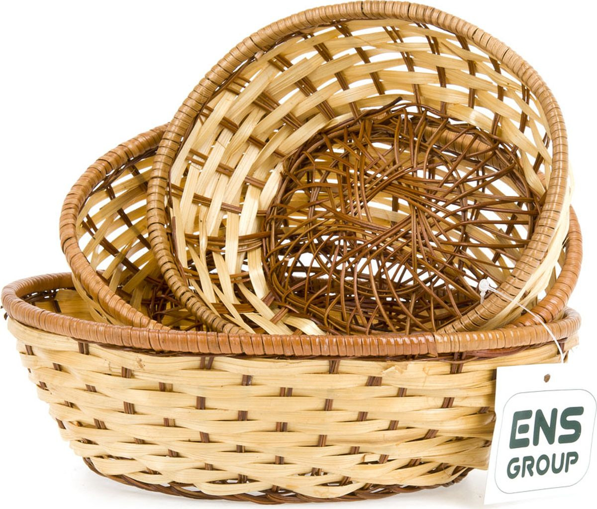 Набор корзинок ENS Group, 7930008, коричневый, 3 шт7930008Оригинальным дополнением любой кухни и праздничного стола, станет набор корзинок для продуктов. Рекомендуем!