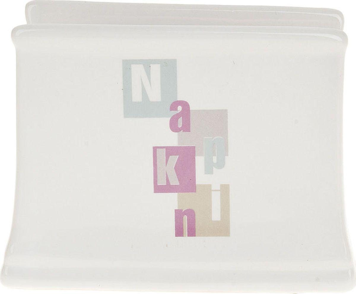 лучшая цена Салфетница ENS Group Letters, 1750076, белый, серый, 11 х 4,5 х 8 см