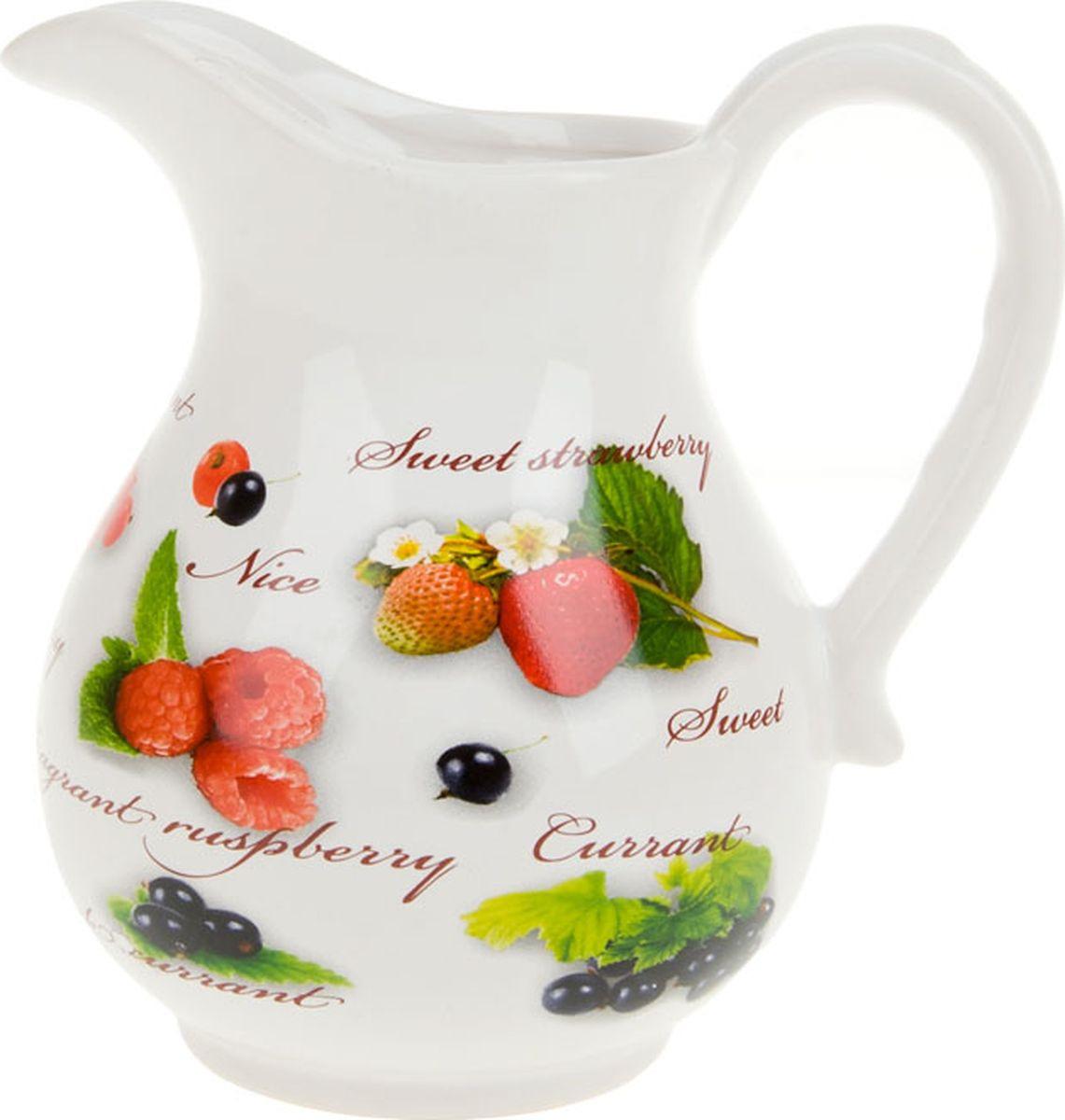 Кувшин Polystar Collection Садовая ягода, L2520275, белый, красный, 900 мл polystar кувшин золотая серена 900 мл