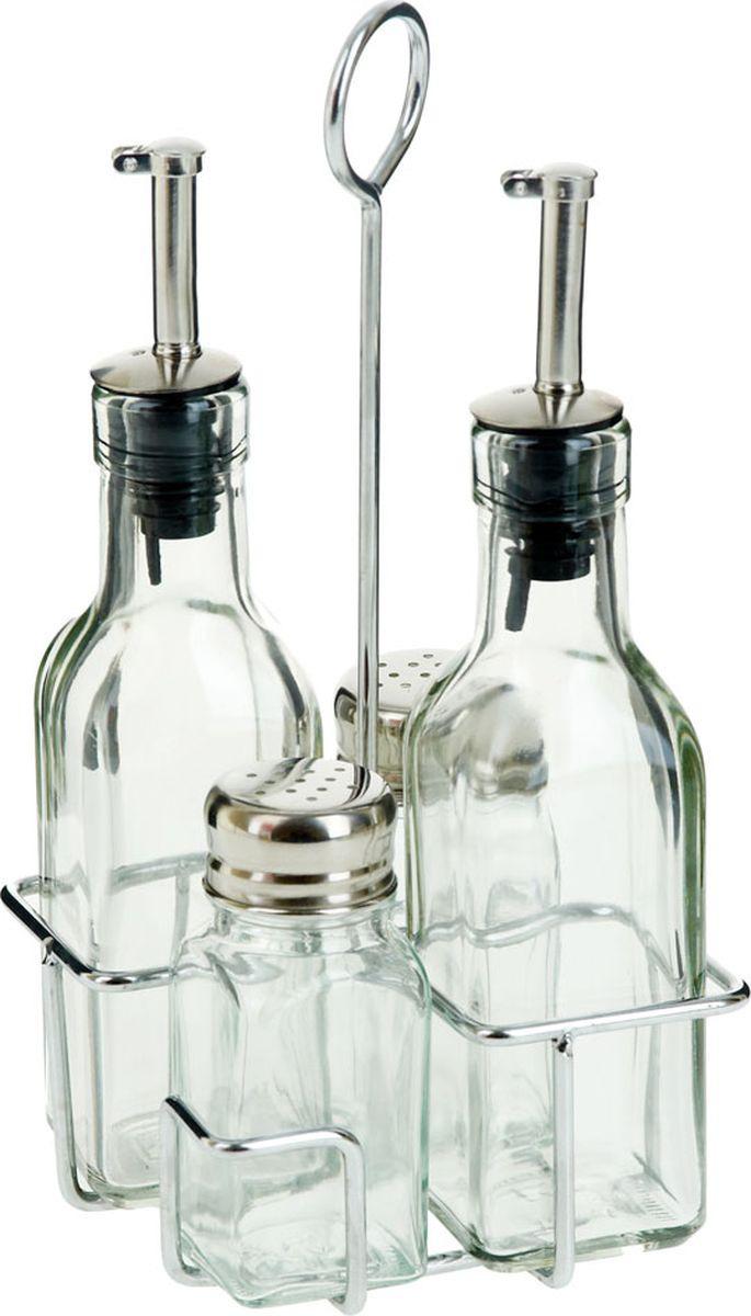Набор для специй SinoGlass, на подставке, 5400020, прозрачный, 5 предметов