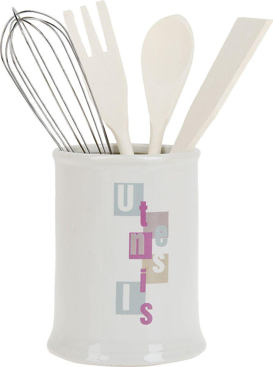 ens group подставка для кухонных принадлежностей птичий двор 9х15х21 см Кухонная подставка ENS Group Letters, 1750073, белый, 750 мл
