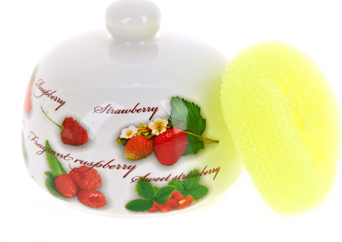 Кухонная подставка Polystar Collection Садовая ягода, L2520662, белый, 12 х 12 х 10,5 см блюдо для фруктов 2 х ярусная polystar collection садовая ягода l2520261
