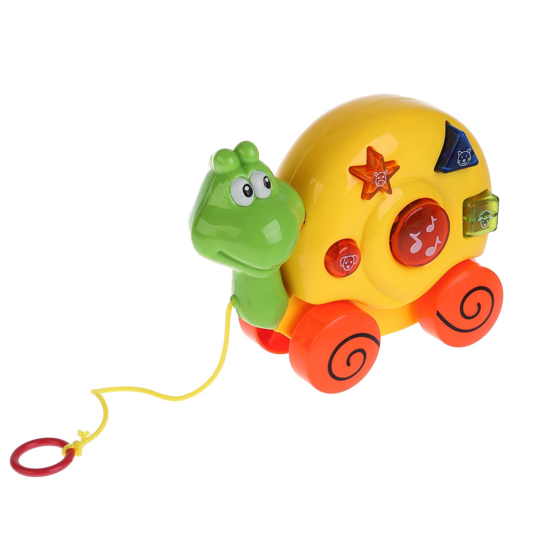 цена на Развивающая игрушка Умка Музыкальная каталка ТМ «Развивающая улитка» на батарейках, со светом и звуком, русифицированной упаковке.