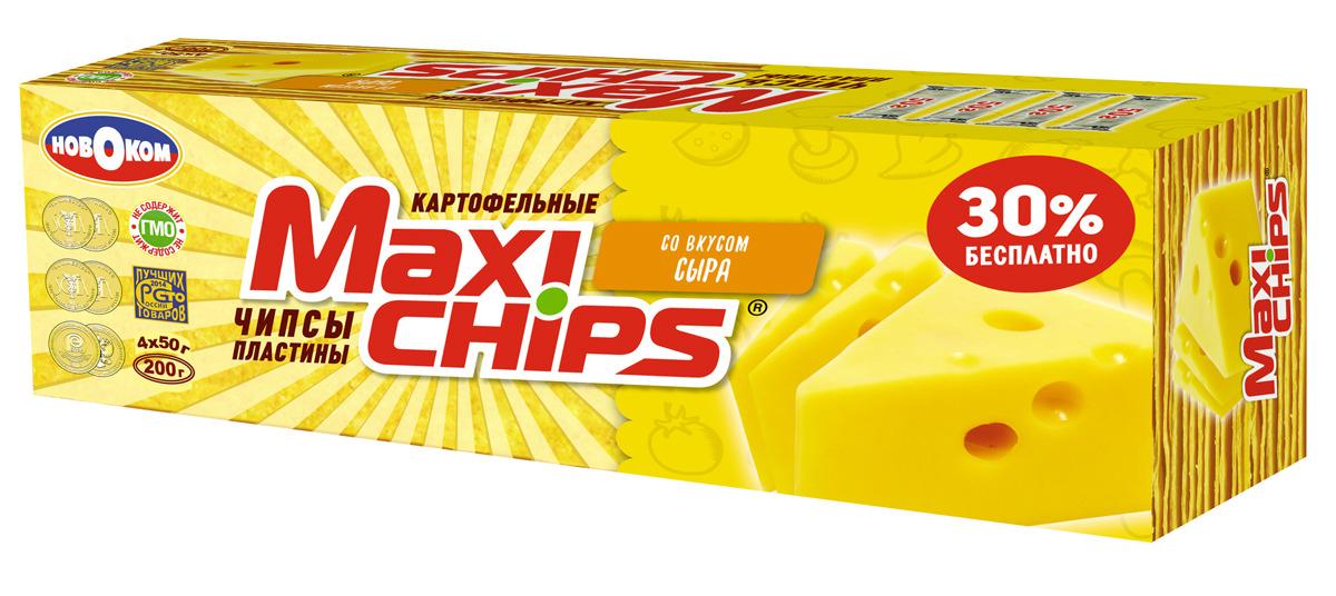 Чипсы картофельные Maxi-chips, сыр, 200 г чипсы картофельные русская картошка сыр 50 г