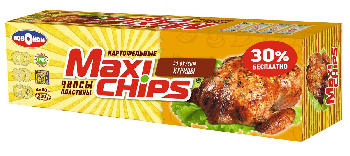 Чипсы картофельные Maxi-chips, курица, 200 г чипсы картофельные русская картошка курица 150 г