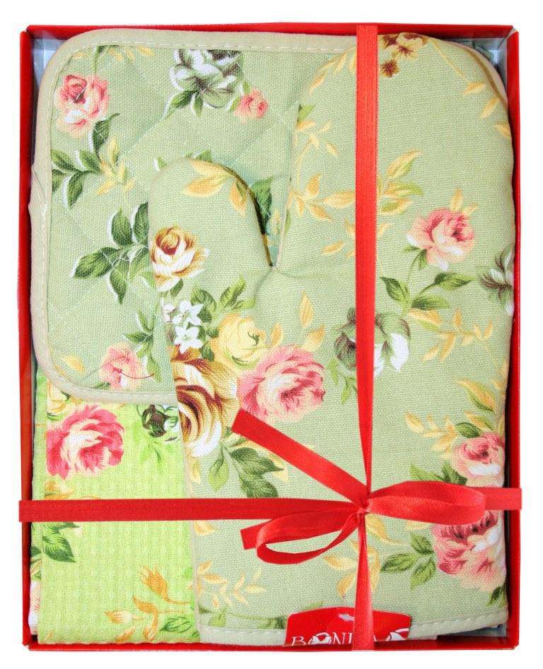 Подарочный набор Bonita Английская коллекция, 2001212178, зеленый, красный