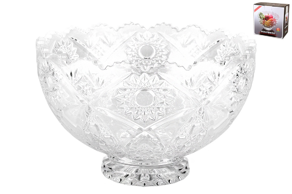 Ваза Коралл GB1661ZH 922427 сервировочная, прозрачный ваза сервировочная коралл гранение звезда