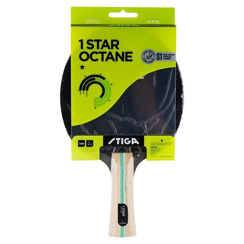 Ракетка для настольного тенниса Stiga Octane 1*, 1211-3216, черный ракетка для настольного тенниса stiga octane 1 1211 3216 01
