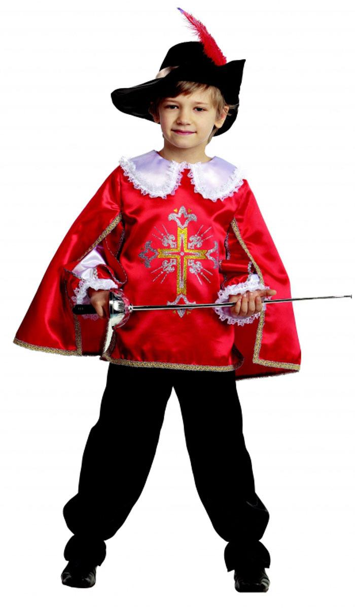 Батик Костюм карнавальный для мальчика Мушкетер цвет красный размер 30