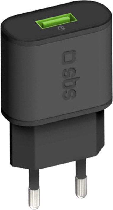 Зарядное устройство SBS, TETR1USBQCH3, Black цена и фото