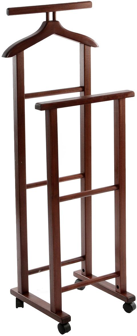 Вешалка напольная переносная Anyday Tet-A-Tet, VTAT-1т, темно-коричневый