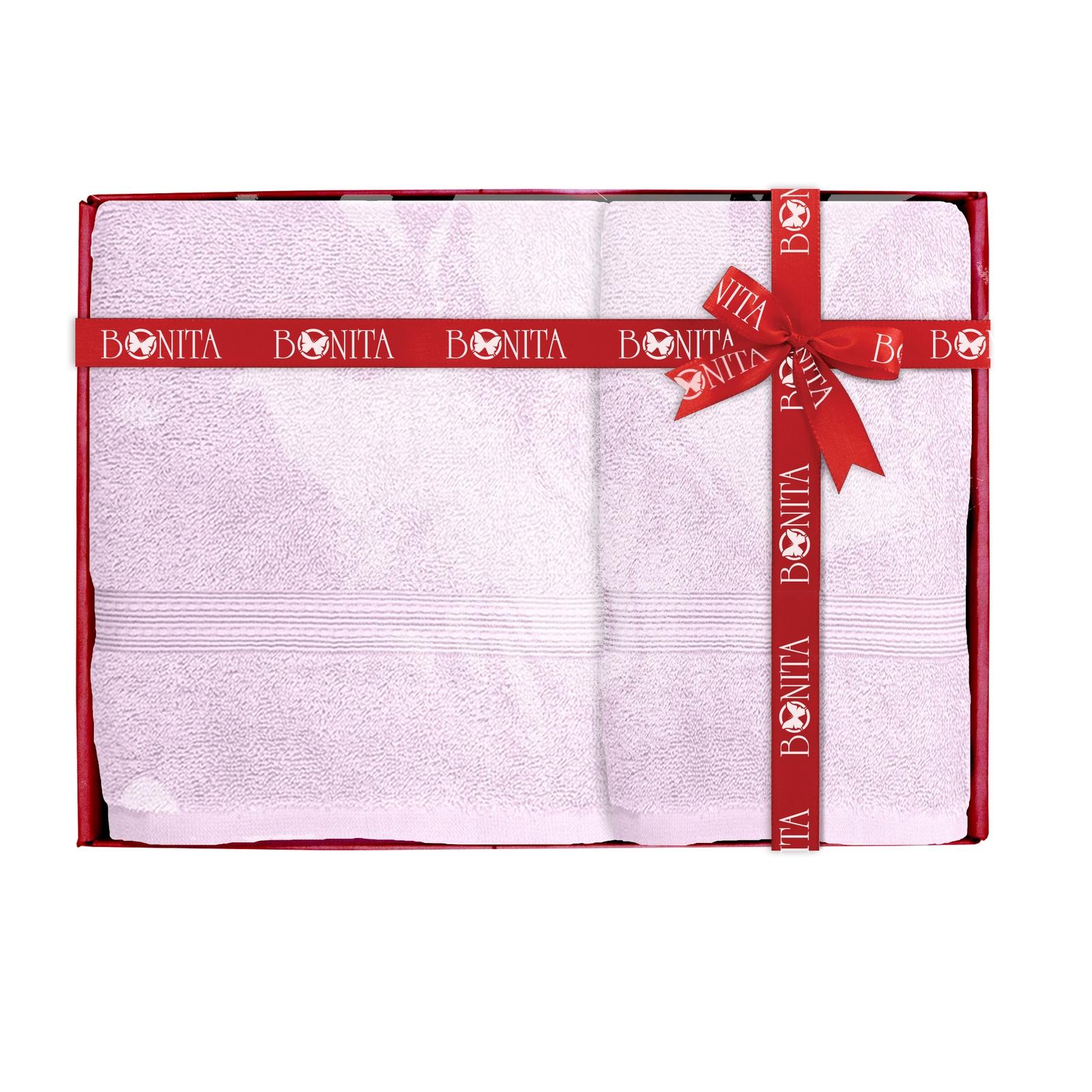 Набор банных полотенец Bonita Classic, 21011218282, лиловый, 2 шт цена и фото