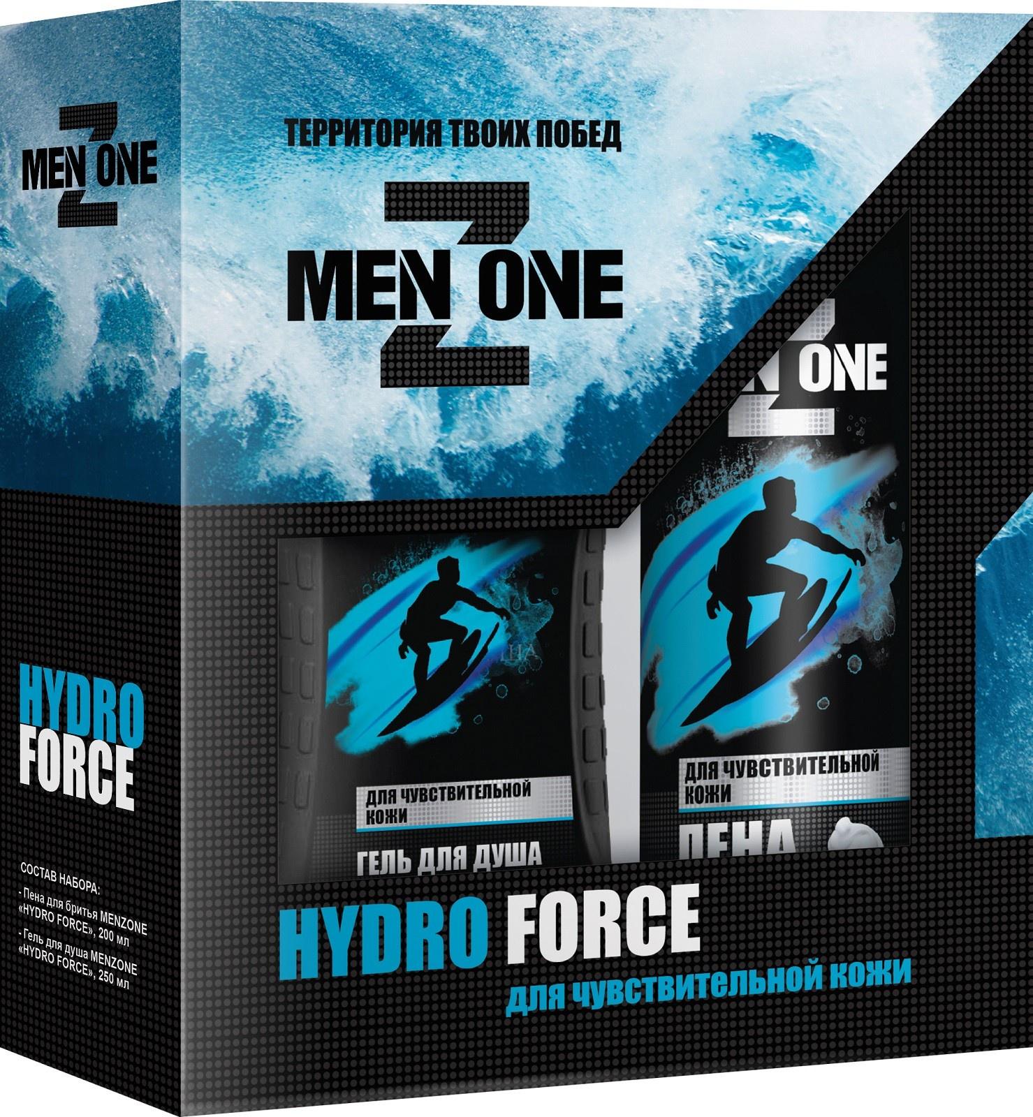 Подарочный набор Menzone Hydro Force Пена для бритья, 200 мл + Гель для душа, 250 мл, 46 00104 03433 6 недорого