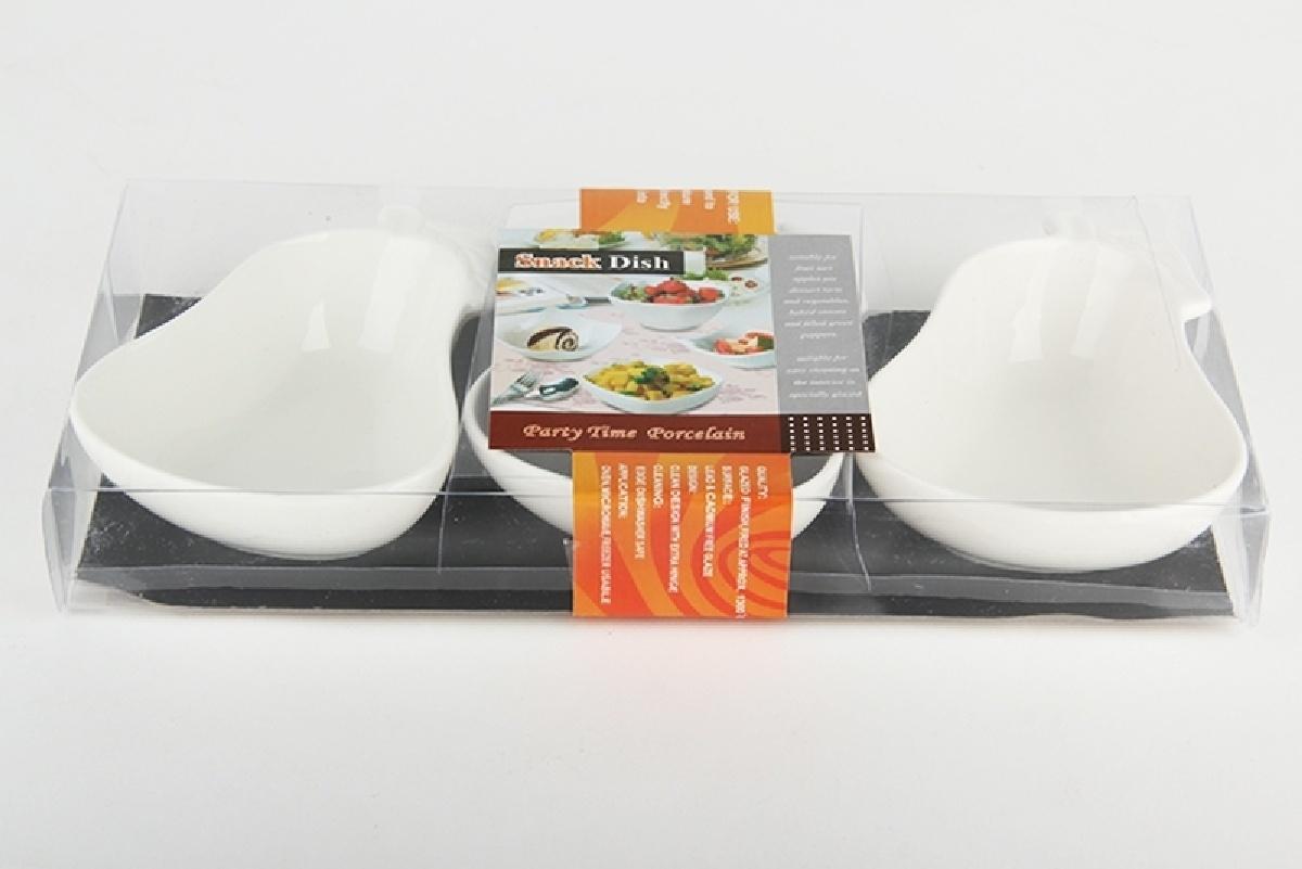 Набор салатников Коралл, 944983, белый, 11 см, 3 шт