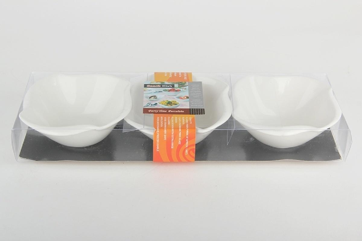 Набор салатников Коралл, 937763, белый, 10 см, 3 шт цена