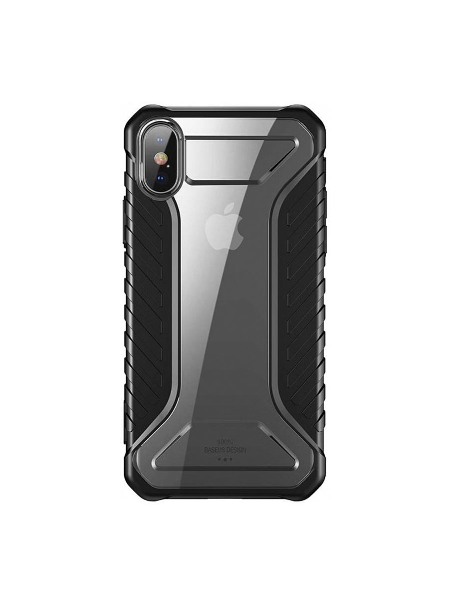 Чехол BASEUS Michelin Race для Apple iPhone X, 572618, черный, прозрачный