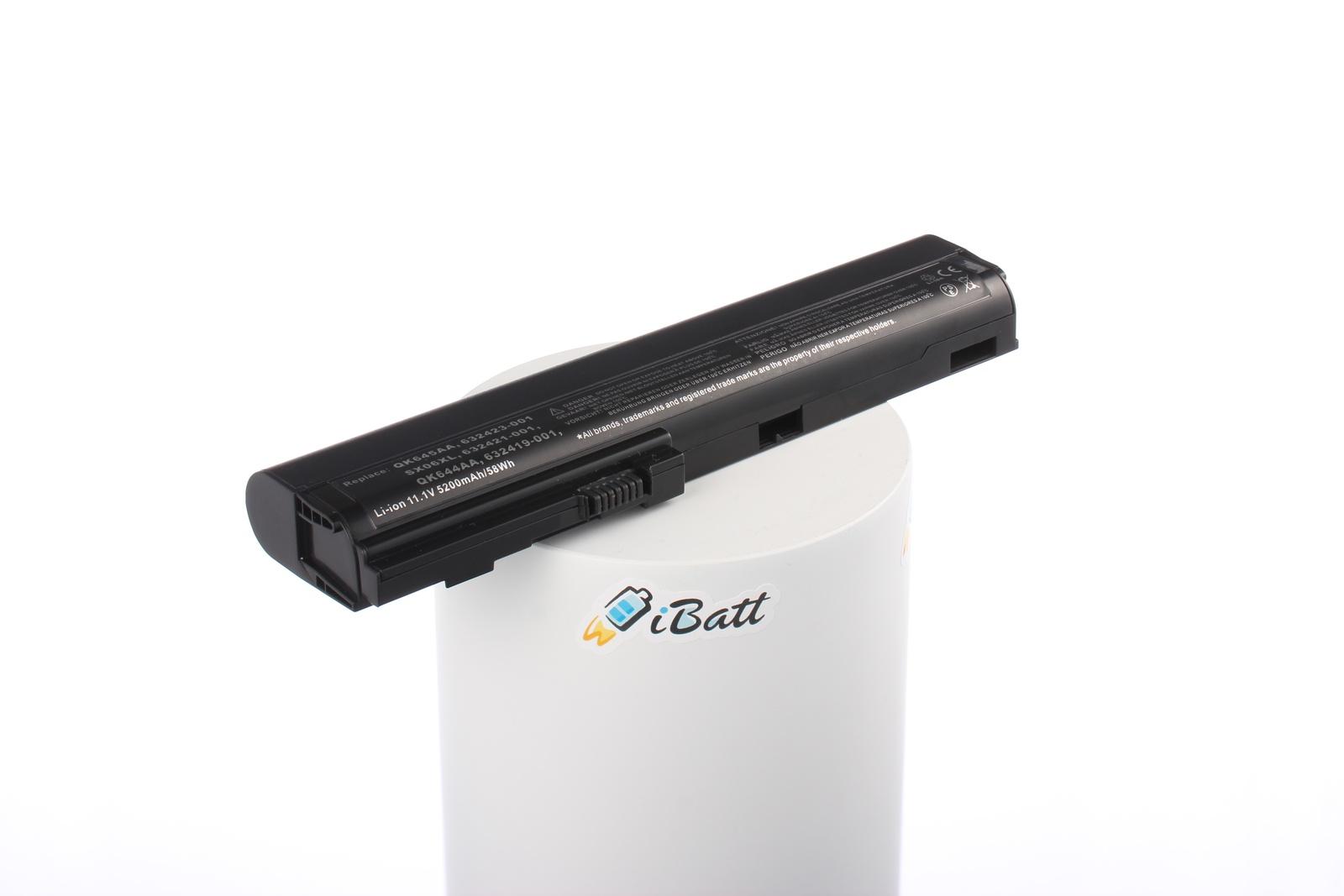 Аккумулятор для ноутбука iBatt iB-A286H, черный аккумулятор для ноутбука hp elitebook 2560p 2570p series 4400мач 11 1v topon top hp2560