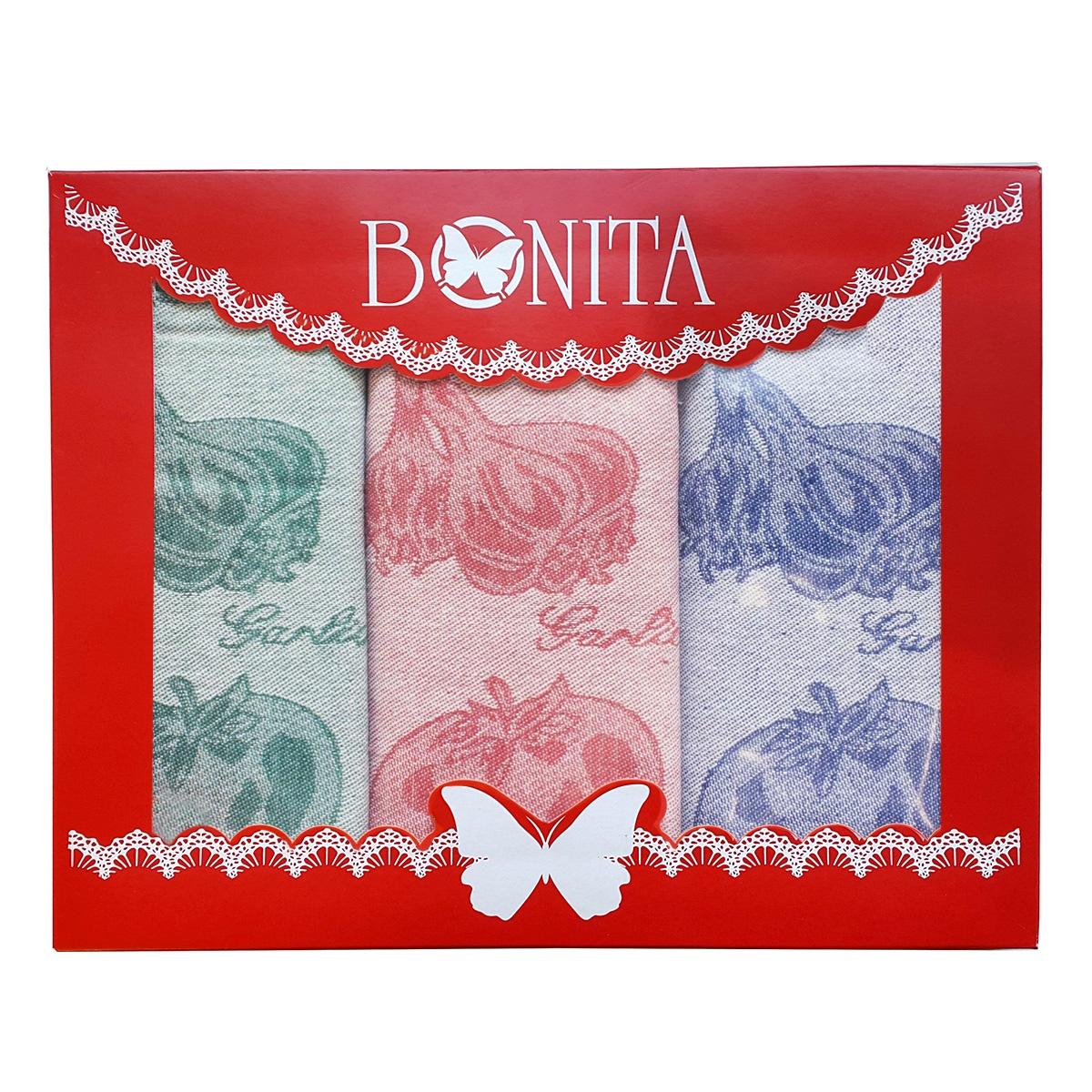 цена на Подарочный набор из полотенец Bonita Помидор, базилик, чеснок, 1010215434, 50х70 см, 3 шт