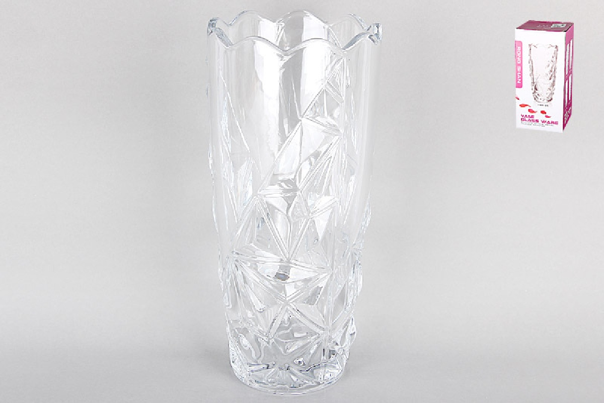 Ваза Коралл 3925 967885, прозрачный ваза из стекла и плетения kézia