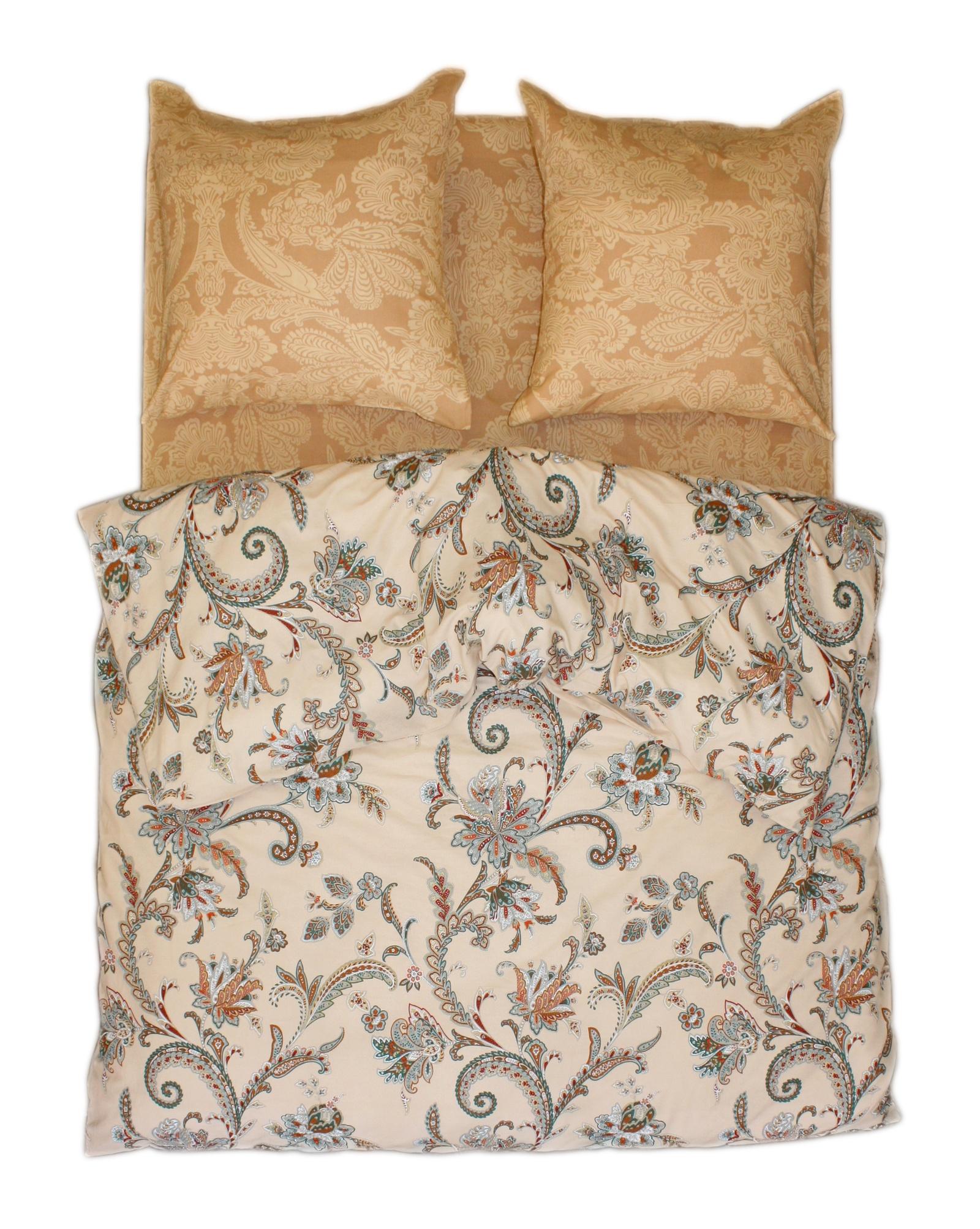 """Комплект постельного белья BegAl, ВТ003-И0281, бежевый, коричневый, зеленый, евроВТ003-И0281Постельное белье из поплина отличает мягкость и высокая плотность переплетения. Ткань практичная, износостойкая, мягкая и приятная на ощупь. Комплект сшит из натуральной ткани, 100% хлопкок. Постельное белье под маркой """"BegAl"""" цельнокроенное, простыни и пододеяльники не имеют шва центру. Пододеяльник с длинной молнией внизу для удобства вдевания в него одеяла. Комплект постельного белья из поплина идеально сочетает в себе практичность и комфорт."""