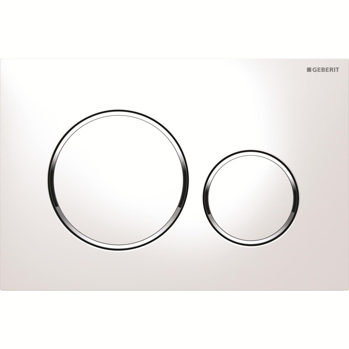 цена на Кнопка для инсталляции Geberit Sigma 20, для унитаза, 115.882.KJ.1, белый, хром глянцевый
