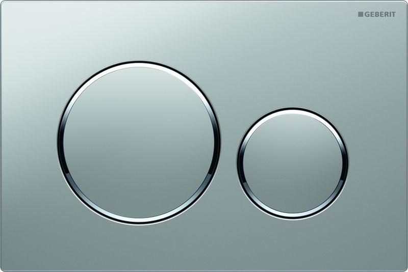 цена на Кнопка для инсталляции Geberit Sigma 20, для унитаза, 115.882.KN.1, хром матовый, хром глянцевый