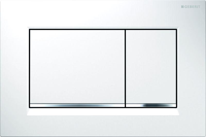 Кнопка для инсталляции Geberit Sigma 30, для унитаза, 115.883.KJ.1, белый, хром глянцевый цены
