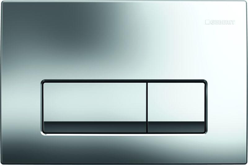 Клавиша смывная Geberit Delta 51, для двойного смыва, 115.105.21.1, глянцевый хром клавиша смыва geberit delta 21 хром 115 125 21 1