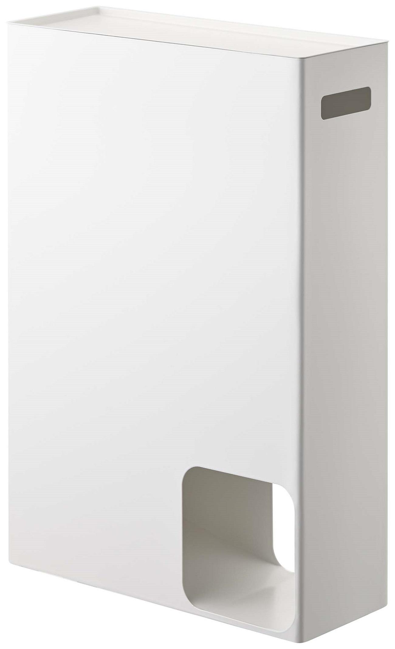 Тумба для ванной Yamazaki, с отделением для хранения туалетной бумаги, 22942294Материал: сталь. Размер: ширина 33, длина 12,5, высота 48. Цвет: белый