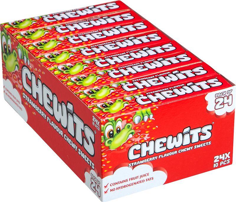 Жевательные конфеты Cloetta Chewits, со вкусом клубники, 24 шт по 29 г жевательные конфеты cloetta chewits со вкусом клубники 24 шт по 29 г