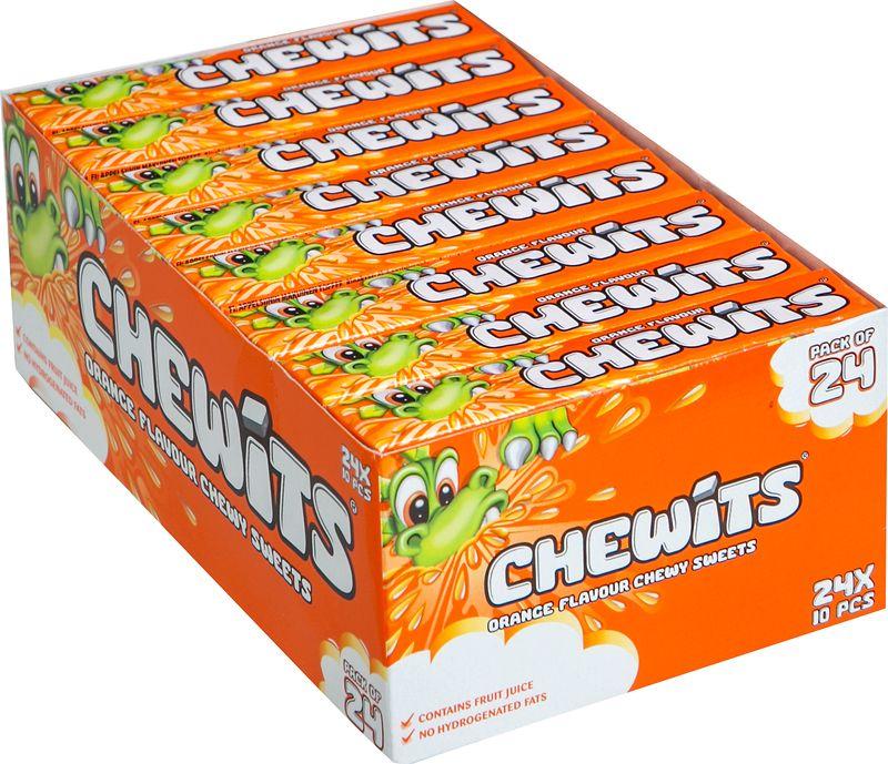 Жевательные конфеты Cloetta Chewits, со вкусом апельсина, 24 шт по 29 г жевательные конфеты cloetta chewits со вкусом клубники 24 шт по 29 г