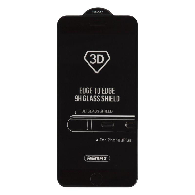 Защитное стекло REMAX Caesar 3D Tempered Glass GL-04 для iPhone 7 Plus/8 Plus с рамкой, 0L-00037707, черный