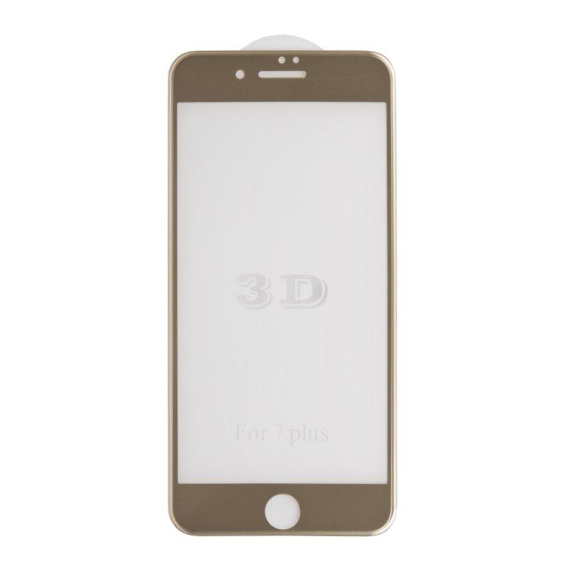 Защитное стекло Liberty Projekt Tempered Glass 3D для iPhone 7 Plus, с рамкой, 0L-00032634, золотой защитное стекло liberty project tempered glass 3d для iphone 7 plus 0l 00032636 с рамкой красный