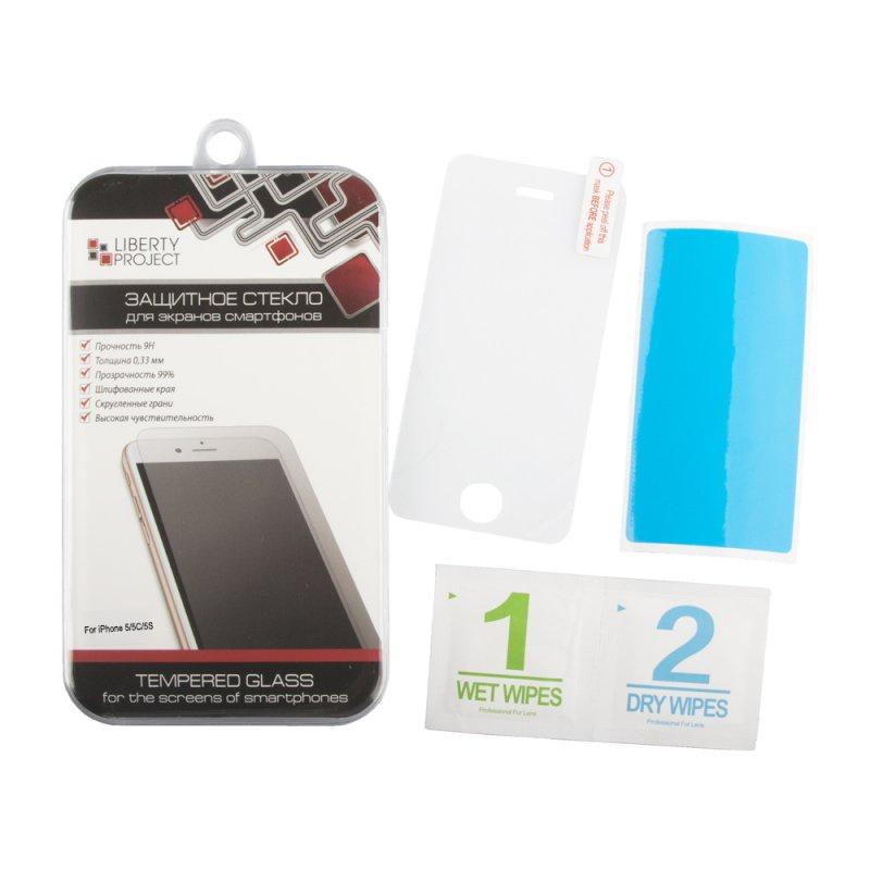 Защитное стекло LP для iPhone 5/5s/5C/SE Tempered Glass 0,33 мм, 9H (ударопрочное) защитное стекло markclub hoco стекло 5s 9h glass iphone 5 5s прозрачный