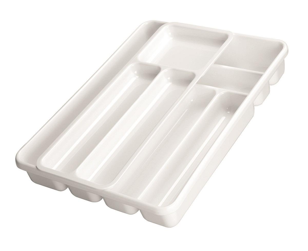 Лоток для столовых приборов Cosmoplast, 2143, двойной, белый, 40 х 30 см