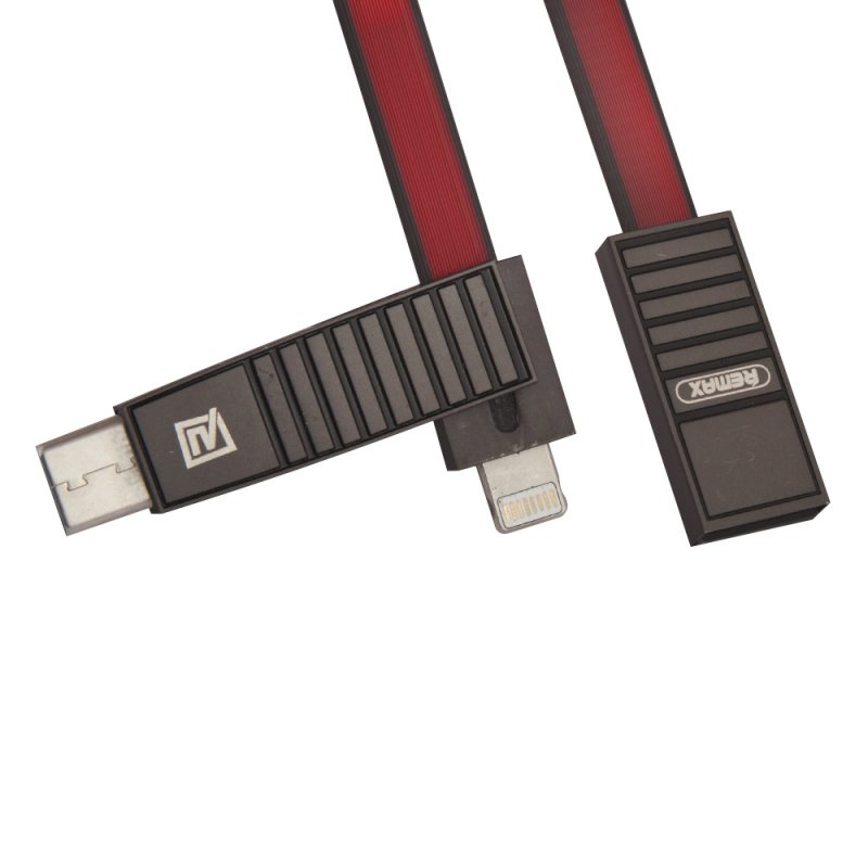 USB кабель Remax Linyo RC-072th 3 in 1 Apple 8 pin, micro USB, USB Type-C, 0L-00036775, красный стоимость