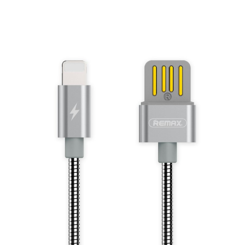 USB кабель REMAX Tinned Copper Series Cable RC-080i Apple 8 pin, 0L-00035724, серебряный