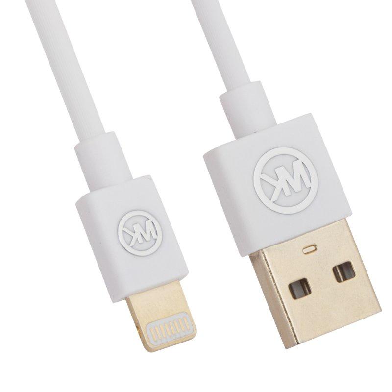 USB кабель WK Worm WDC-052 Apple 8 pin, 0L-00036802, белый