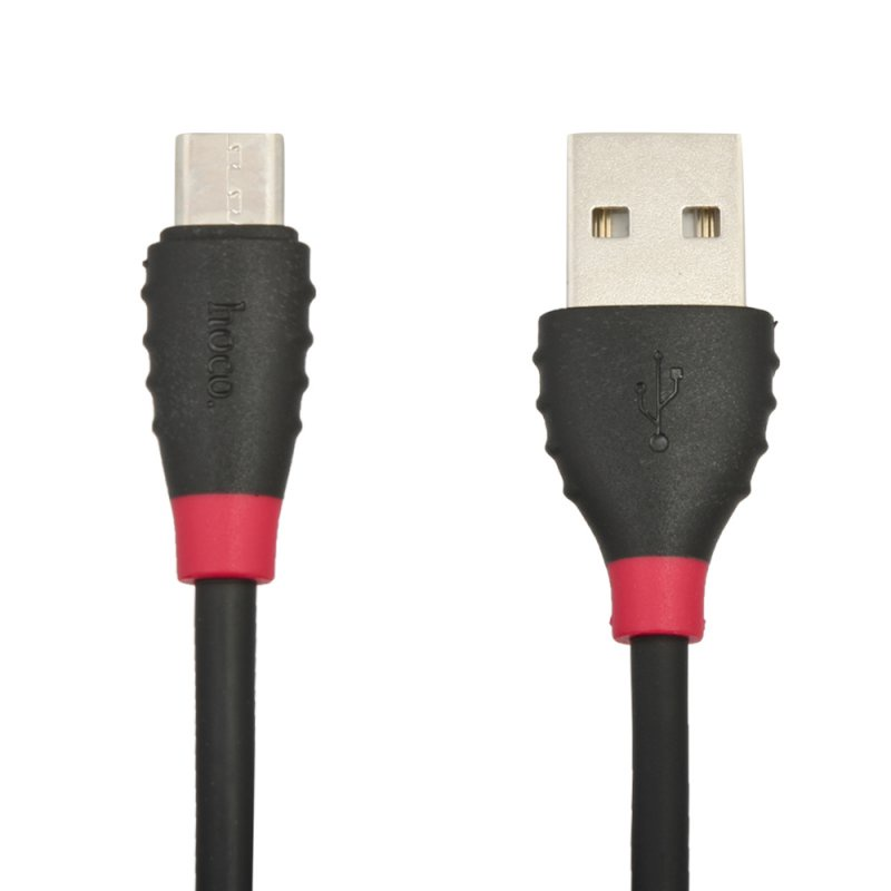 USB кабель Hoco Excellent Micro X27 1 м, 0L-00039746, черный usb кабель hoco timing micro u29 led 1 м 0l 00038969 красный