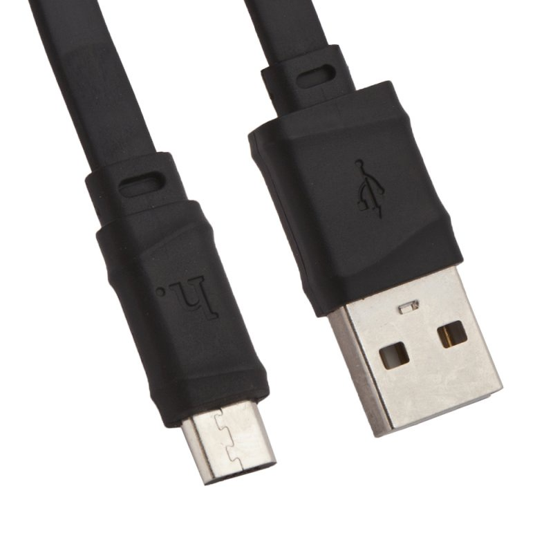USB кабель Hoco X5 Bamboo Micro 1 м, 0L-00037536, черный usb кабель hoco timing micro u29 led 1 м 0l 00038969 красный