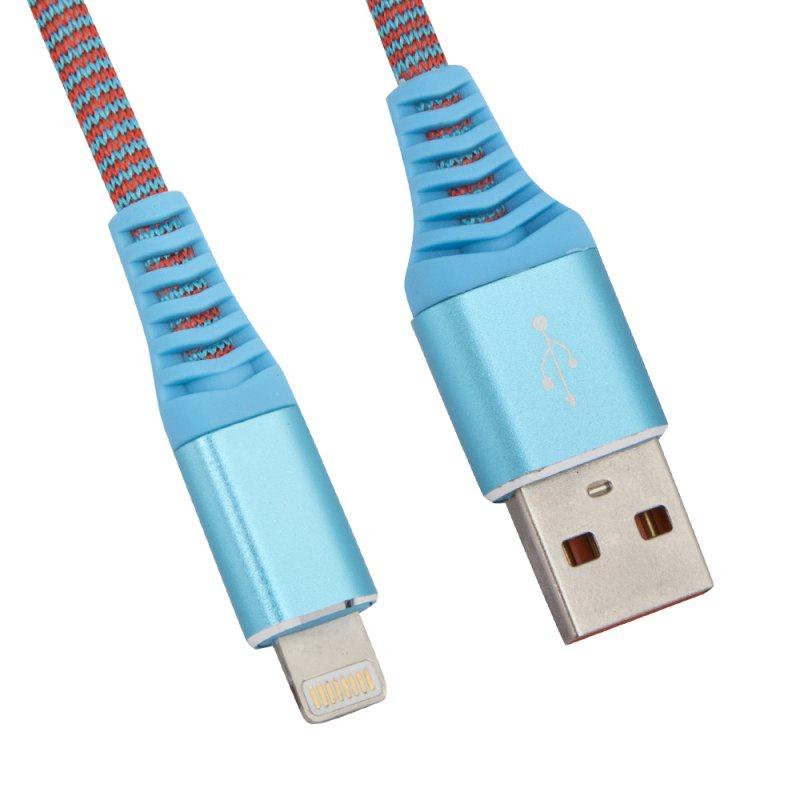 "USB кабель Liberty Project ""Носки"" Apple 8 pin, 0L-00038860, голубой"