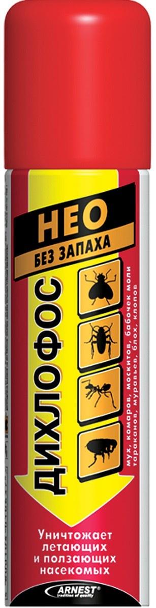 Ловушка для вредителей Дихлофос Нео, 140 мл, от летающих и ползающих насекомых аэрозоль от летающих насекомых раптор с цитрусовым ароматом 275 мл