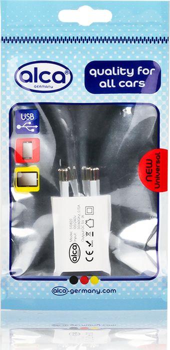 Фото - Автомобильное зарядное устройство Alca, 510820, 230 V, c USB, белый автомобильное зарядное устройство partner 2 х usb 2 1 1а белый пр026560