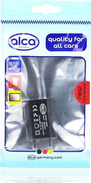 Автомобильное зарядное устройство Alca, 510810, 230 V, c USB, черный зарядное устройство hama h 93731 для навигаторов mini usb 12в 5в 1а черный